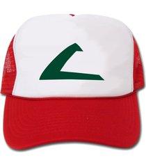 pokemon ash ketchum cosplay trucker hat/cap