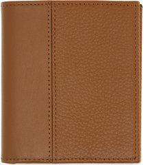 nordstrom midland compact leather wallet in tan caramel at nordstrom