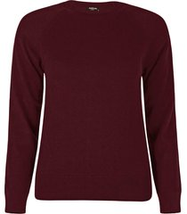 blusa anselmi decote redondo bordô