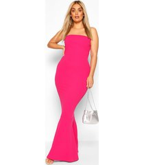 plus bandeau fishtail maxi dress, magenta