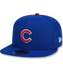 boné chicago cubs 5950 game cap fechado azul - new era