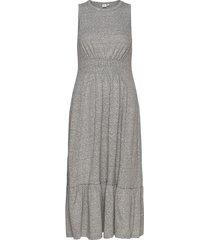 midi swing dress knälång klänning grå gap