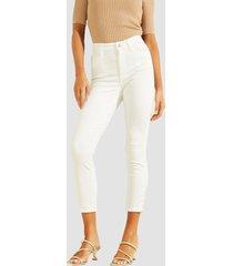 jeans crop 1981 skinny w zips blanco guess