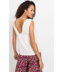 blousetop met rugdecolleté
