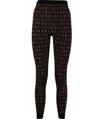 moschino jacquard knit leggings