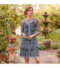 sundance catalog women's belle de jour dress in grisaille xl