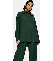 *green oversized shirt by topshop boutique - green