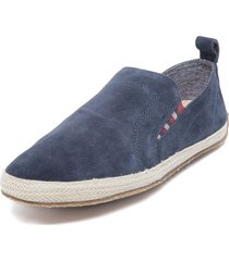 alpargata cuero party azul hush puppies