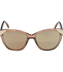 ted baker london women's 56mm square sunglasses - brown