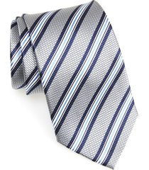 men's nordstrom men's shop stripe silk x-long tie, size x-long x-long - metallic