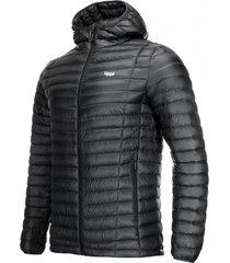 chaqueta plumas hombre peak down hoody negro lippi