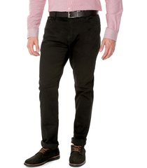 pantalon negro preppy 5 bolsillos acanalado 100%alg bota 20