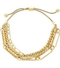 women's layered chain bolo bracelet