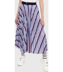 falda azul-multicolor lacoste