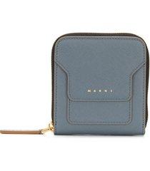 marni compact zip-around wallet - grey