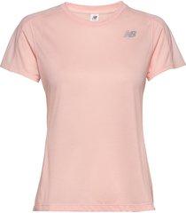 impact run ss t-shirts & tops short-sleeved rosa new balance