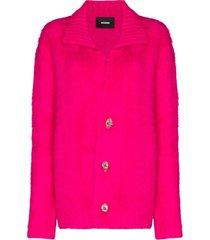 we11done hardware button cardigan - pink