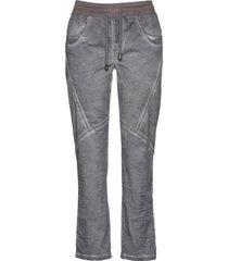 pantaloni cropped in cotone effetto usato (grigio) - bpc bonprix collection