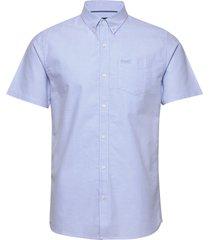 classic uni oxford s/s shirt kortärmad skjorta blå superdry
