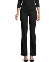 joe's jeans women's high-rise bootcut jeans - noam black - size 25 (2)