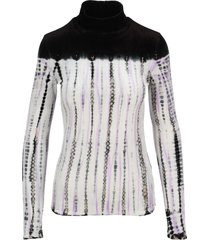 proenza schouler tie-dye velvet rollneck sweater