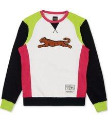 le tigre men's retro logo crew neck sweatshirt
