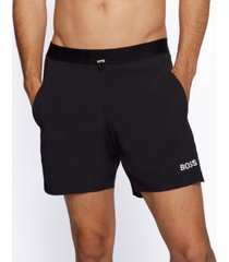 boss men's logo swim shorts