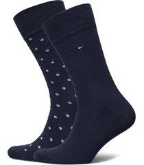 th men sock 2p dot underwear socks regular socks blå tommy hilfiger