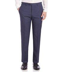 melange textured trousers