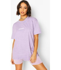 'honey' slogan washed t-shirt, lila