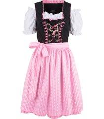 abito bavarese corto con camicetta e grembiule (set 3 pezzi) (nero) - bpc bonprix collection