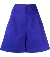 marni a-line bermuda shorts - blue