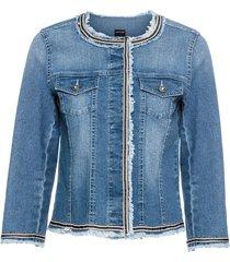giacca di jeans con frange (blu) - bodyflirt