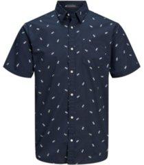 jack & jones men's short sleeve button down shirt