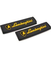 lamborghini seat belt covers leather shoulder pads accessories with emblem