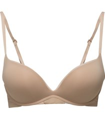 plunge push up lingerie bras & tops push-up bra beige calvin klein