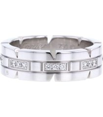 cartier 2010s pre-owned white gold tank diamond ring