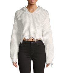wildfox women's marley cotton hoodie - scarlet - size m