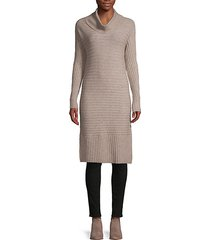 cowlneck ribbed tunic sweater