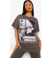 gelicenseerd biggie t-shirt, charcoal