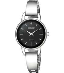citizen women's quartz stainless steel half-bangle bracelet watch 26mm