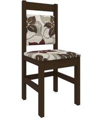 cadeira zamarchi 17, tabaco e tecido floral