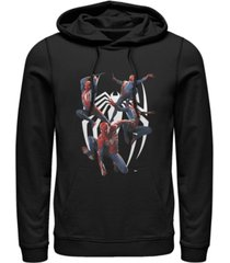 marvel men's gamerverse spider-man multiplied chest logo, pullover hoodie