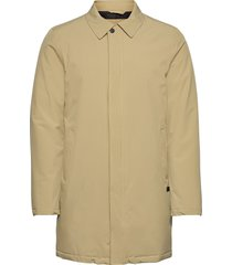 technical mac coat dunne lange jas beige lindbergh