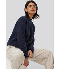 na-kd basic bassweatshirt - blue