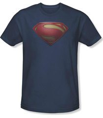authentic superman man of steel mos shield logo dc comics movie t shirt s-3xl