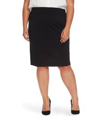 plus size women's vince camuto ponte knit skirt, size 1x - black