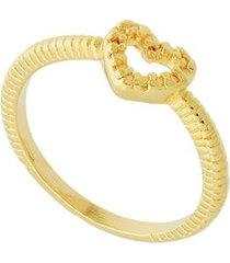 anel dona diva semi joias coração feminino