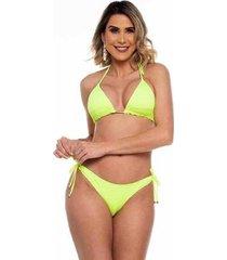 biquini cortininha ripple neon vibes maré brasil feminino - feminino