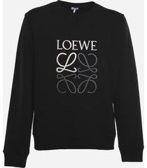 loewe cotton sweatshirt with embroidered anagram